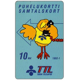 Phonecard for sale: Turku - First issue, Blue Buzzby, 10 mk