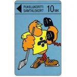 The Phonecard Shop: Finland, Turku - Hockey Player Buzzby, 10 mk
