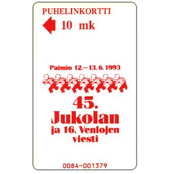 Phonecard for sale: Turku - Jukola Cross Country Relay Race, 10 mk