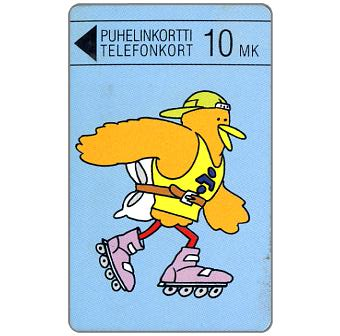 Phonecard for sale: Turku - Buzzby on roller skates, 10 mk