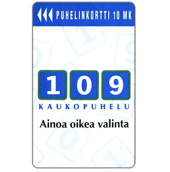 Phonecard for sale: Turku - 109 Long Distance Call, 10 mk