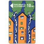The Phonecard Shop: Turku - Birch and Apartment House, 10 mk