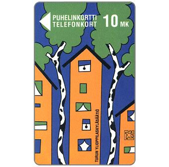 Phonecard for sale: Turku - Birch and Apartment House, 10 mk