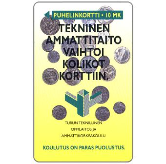 Phonecard for sale: Turku - Technical skill, 10 mk