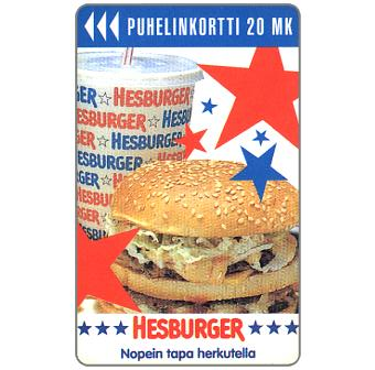 Phonecard for sale: Turku - Hesburger, 20 mk
