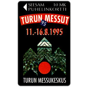 Phonecard for sale: Turku - Turku Fair 1995, 10 mk