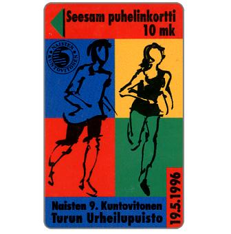 Phonecard for sale: Turku - Running, 10 mk
