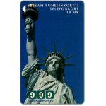 The Phonecard Shop: Turku - 999 New York, Statue of Liberty, 10 mk