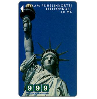 Phonecard for sale: Turku - 999 New York, Statue of Liberty, 10 mk