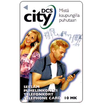 Phonecard for sale: Turku - Man with eyeglasses, 30 mk