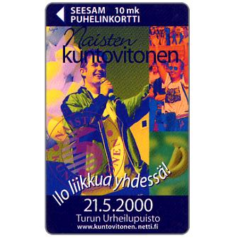 Phonecard for sale: Turku - Naisten Kuntovitonen 1999, 10 mk
