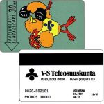 Phonecard for sale: V-S Teleosuuskunta - Buzzby and Flowers, exp. 12/97, 30 mk