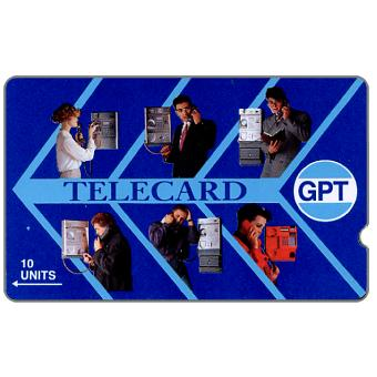 GPT Telecard, people at phone, deep notch, 10 units