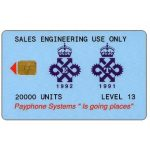 The Phonecard Shop: Great Britain, Queen's Award Level 15 Sales engineering use only, 20000 units