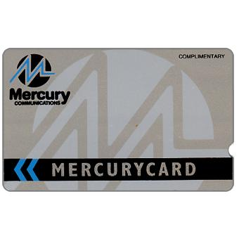 Phonecard for sale: Mercury - Complimentary silver, deep notch, 40p