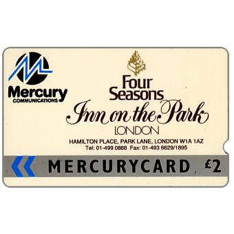 Phonecard for sale: Mercury - Inn of the Park (01 phone number), deep notch, £2