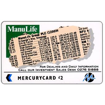Phonecard for sale: Mercury - Manulife (0276 Phone No.), £2