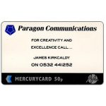 Phonecard for sale: Mercury - Paragon Communications, 50p