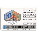 The Phonecard Shop: Mercury - Space Management, 50p