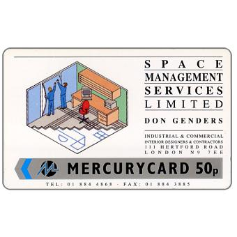 Phonecard for sale: Mercury - Space Management, 50p