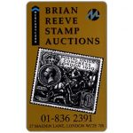 The Phonecard Shop: Mercury - Brian Reeve Stamp Auctions (01-836 2391 Phone No.), 50p