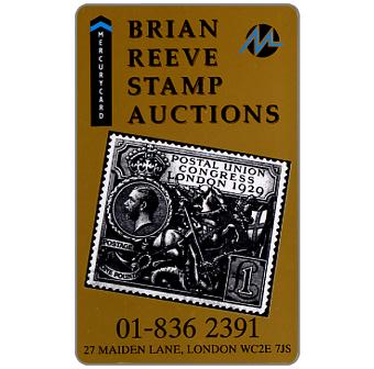 Phonecard for sale: Mercury - Brian Reeve Stamp Auctions (01-836 2391 Phone No.), 50p