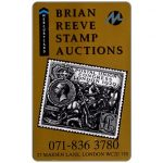 The Phonecard Shop: Mercury - Brian Reeve Stamp Auctions (071-836 3780 Phone No.), 50p