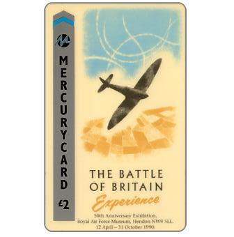 Phonecard for sale: Mercury - The Battle of Britain Experience, £2
