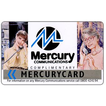 Phonecard for sale: Mercury - Complimentary, 50p