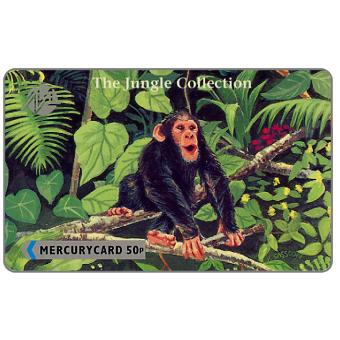 Phonecard for sale: Mercury - The Jungle Collection Puzzle 2/6, Chimp, 50p