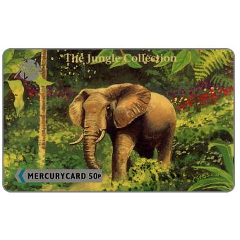 Phonecard for sale: Mercury - The Jungle Collection Puzzle 5/6, Elephant, 50p
