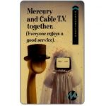 The Phonecard Shop: Mercury - Mercury & Cable TV together, 50p