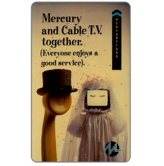 Phonecard for sale: Mercury - Mercury & Cable TV together, 50p
