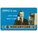 "Phonecard for sale: Mercury - Harry Enfield: ""Simple"", £2"