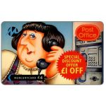 The Phonecard Shop: Great Britain, Paytelco - Post Office, Mavis (£1 off Promotion), £4