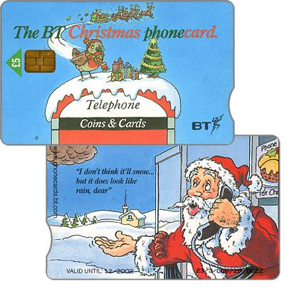 Phonecard for sale: Christmas 98, £5