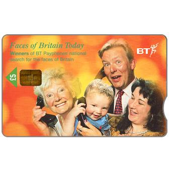 Phonecard for sale: Faces of Britain Today, £5