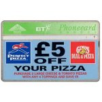 Phonecard for sale: £5 off your pizza, 50 units