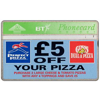 £5 off your pizza, 50 units