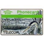 The Phonecard Shop: Winter 1989, heron, 20 units