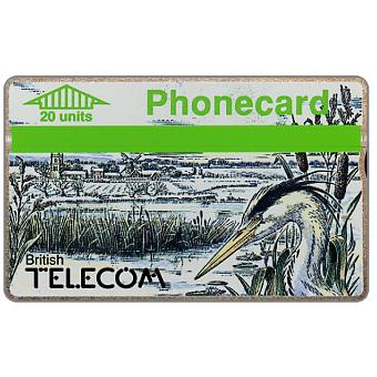 Phonecard for sale: Winter 1989, heron, 20 units
