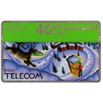 The Phonecard Shop: Great Britain, Christmas 1990, phone booth and wolf, 40 units