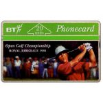 The Phonecard Shop: Birkdale Golf Open 1991, 20 units