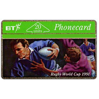 Phonecard for sale: Rugby World Cup 1991, 20 units