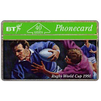 Phonecard for sale: Rugby World Cup 1991, 40 units