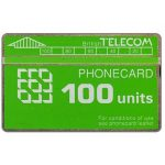 The Phonecard Shop: Great Britain, Definitive 5th series, green band, 100 units