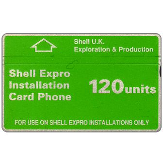 Phonecard for sale: Shell Expro, green band, 120 units