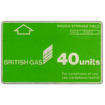 Phonecard for sale: British Gas, Rough Storage Field, without notch, 40 units