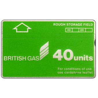 Phonecard for sale: British Gas, Rough Storage Field, 40 units