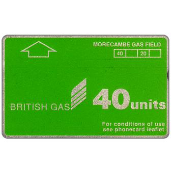 Phonecard for sale: British Gas, Morecambe Gas Field, 40 units